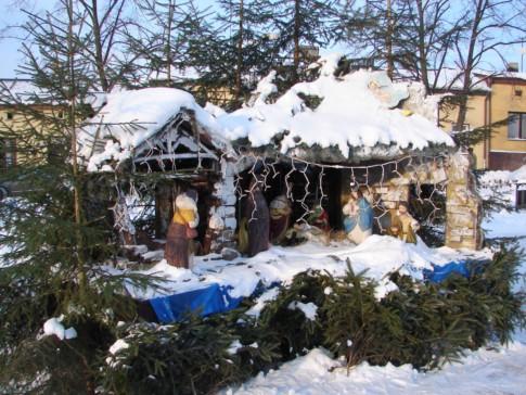 Krzepicki Rynek - szopka Bożonarodzeniowa